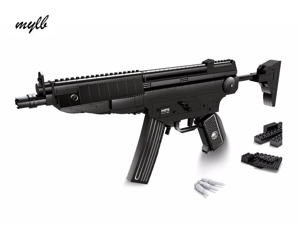 Mylb New Arms-serien Heckler & Koch MP5 Submachine Gun Modell Byggstenar Klassiska barn Leksaker kompatibla med DIY