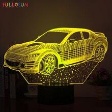 5 В USB Мощность 3D LED визуальный индикатор 3D водить автомобиль модели Ночные светильники с нескольких цветов нажатием кнопки, лампы как детская Игрушечные лошадки огни