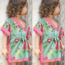 Ночная рубашка с цветочным принтом для маленьких девочек; без рукавов; с кисточками; хлопковое платье для сна с круглым вырезом