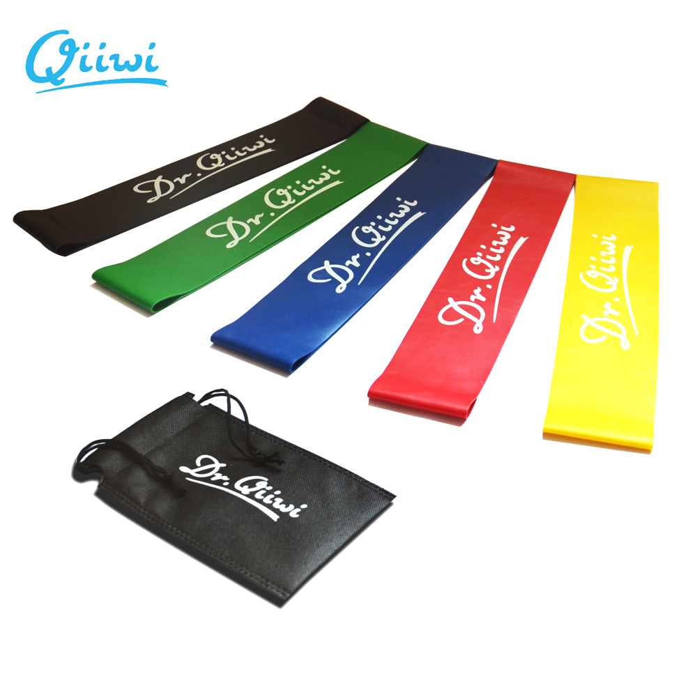 Dr.Qiiwi (3Pcs/Set) Rubber Loop Bands Set Training Workout Resistance Bands for Sports Exe