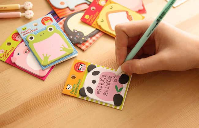 Ellen Brook 1 pièce bricolage Kawaii Animal Notes autocollantes créatif Post bloc-Notes Filofax bloc-Notes bureau fournitures scolaires papeterie cadeau