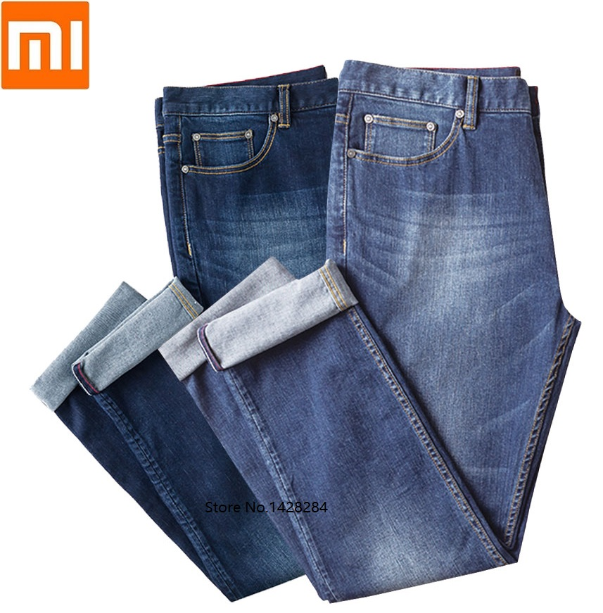 Xiaomi DMN Male Stretch Straight Jeans Elasticity Comfortable Breathable Business Casual Traveler Solid Jeans Men Smart Home