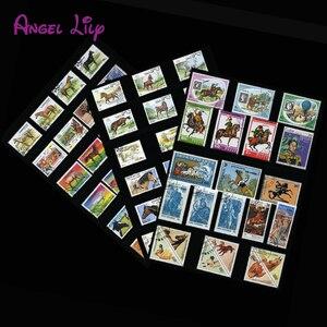 Image 1 - Caballo, 250 unids/lote todo el mundo sin utilizar con la marca postal sellos postales para recoger Timbres postaux