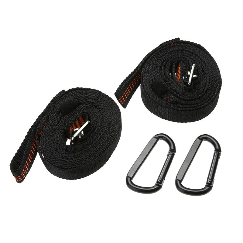 2Pcs 400KG Capacity Adjustable Strong Nylon Hammock Strap Outdoor Camping Hanging Rope Sleeping Straps Multifunction Tool 021 multifunction s shape outdoor camping kitchen stainless steel hanging hooks silver 6 pcs