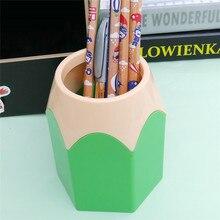 Organizer Pen-Holder Creative Stationery Container-Storage Desk-Set Makeup-Brush Cute