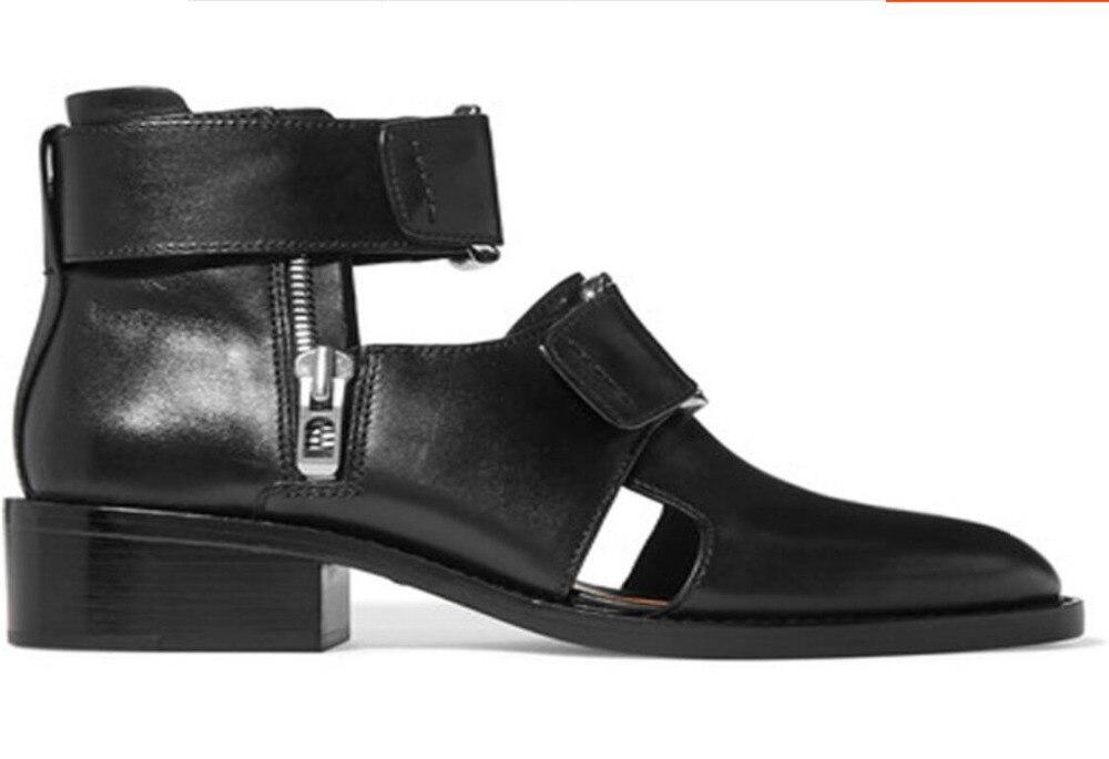 Sandalias clásicas de hebillas de cuero para hombre sandalias de gladiadores de Punta puntiaguda para hombre con hebilla transpirable sandalias romanas zapatos negros-in Sandalias de hombre from zapatos    2