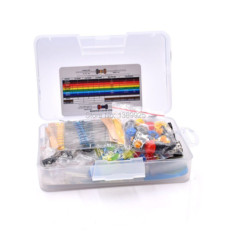 Electronic Electronics Protoboard Breadboard Kit Fans Cable Resistor Capacitor LED Potentiometer For UNO Starter Kit