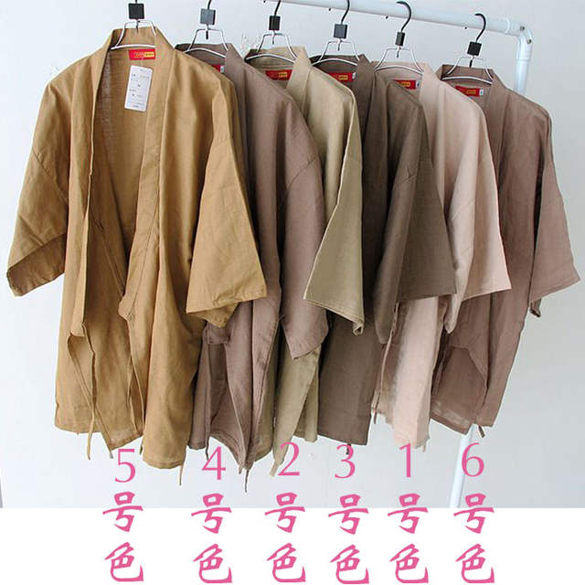 3812ad1944 Online Shop Summer short sleeve pyjamas set men s simple Japanese kimono  pajama Cotton Yukata Sleepwear Robe and Pants 62804