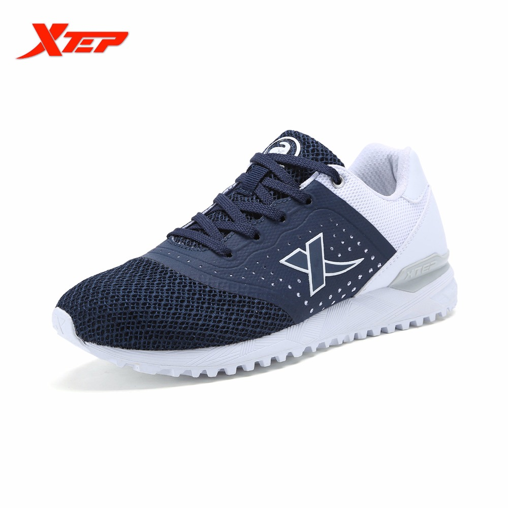 XTEP Original Brand Women's Light Running Shoes Black Blue Sports Trainers Shoes Breathable Athletic Sneakers 983218329282
