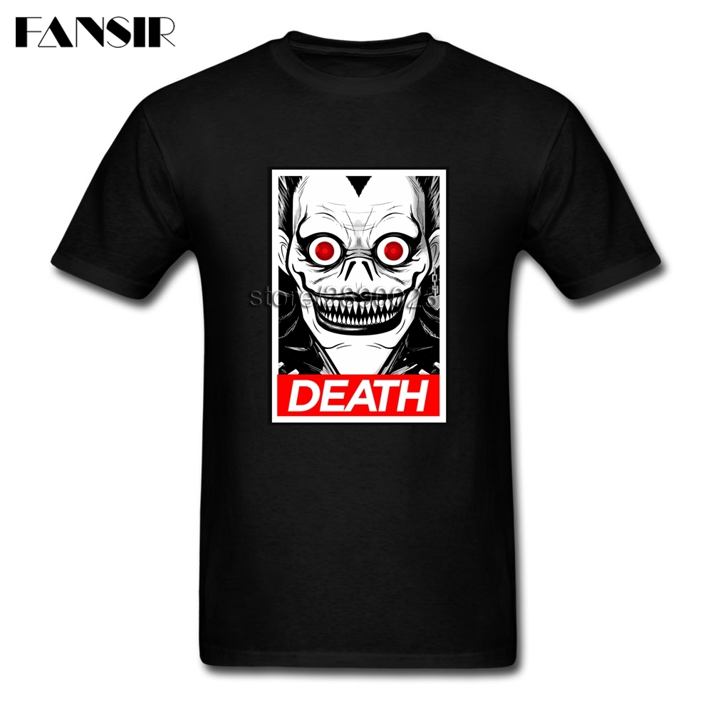 Printing T Shirt Mens Death Note Men Tshirts Custom Cotton Short Sleeve Adult Clothes