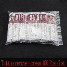 100 Pcs/Lot Tattoo Recovery Cream Vitamin A+Vitamin D Ointment Top Tattoo Repairing Cream, Tattoo Essential Products.