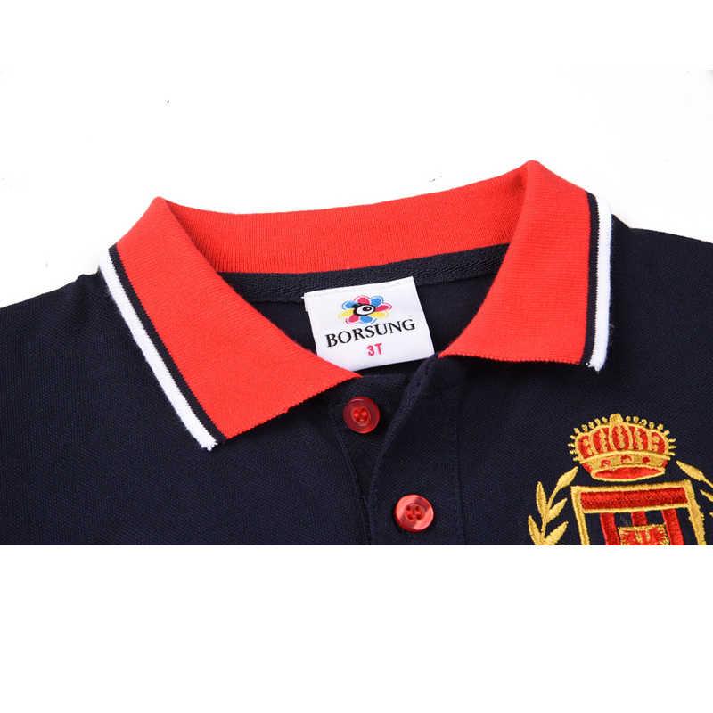 6dc38f783 Niños Polo camisa 2018 verano nueva letra bordado camisa de manga corta  niños escuela Polo niños ropa 3 4 5 6 7Yrs