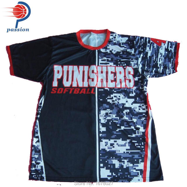 c61f6657d Dye Sublimation Customize Own Team Camo Design Softball Top -in ...