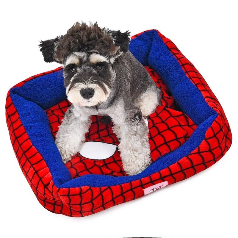Estilo lindo Cama Del Animal Doméstico Suave Cozy Spider-Man de Halloween Calien