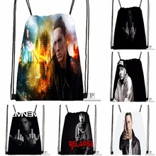 Custom Eminem Drawstring Backpack Bag for Man Woman Cute Daypack Kids Satchel (Black Back) 31x40cm#180531-01-15