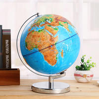 32cm Large size 3D Relief LED Luminous Globes Miniatures Chinese English High definition Home Decoration Tellurion Home Decor