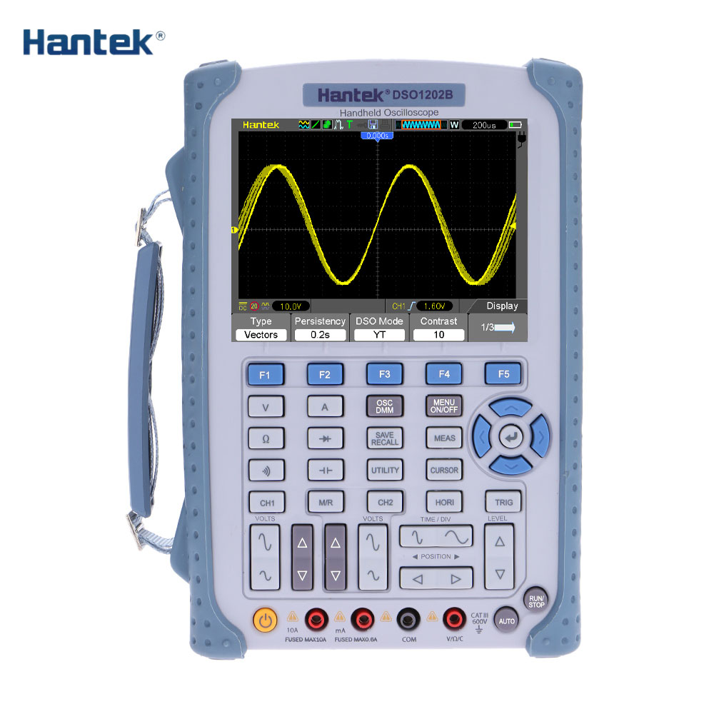 DSO1062B DSO1102B DSO1202B Handheld Oscilloscope osciloscopio 2 Channels 60MHZ 1GSa/s sample rate 1M Memory Depth 6000 Counts 360 rotary flip open pu case w stand for 10 5 samsung galaxy tab s t805 white