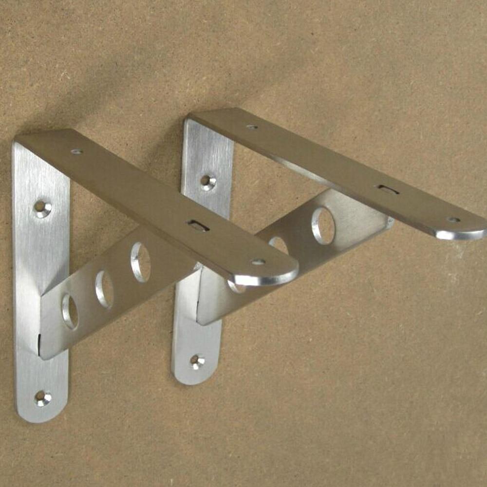 Stainless Steel 10pcslot 45x26cm Shelf Bracket Metal Wall Mount