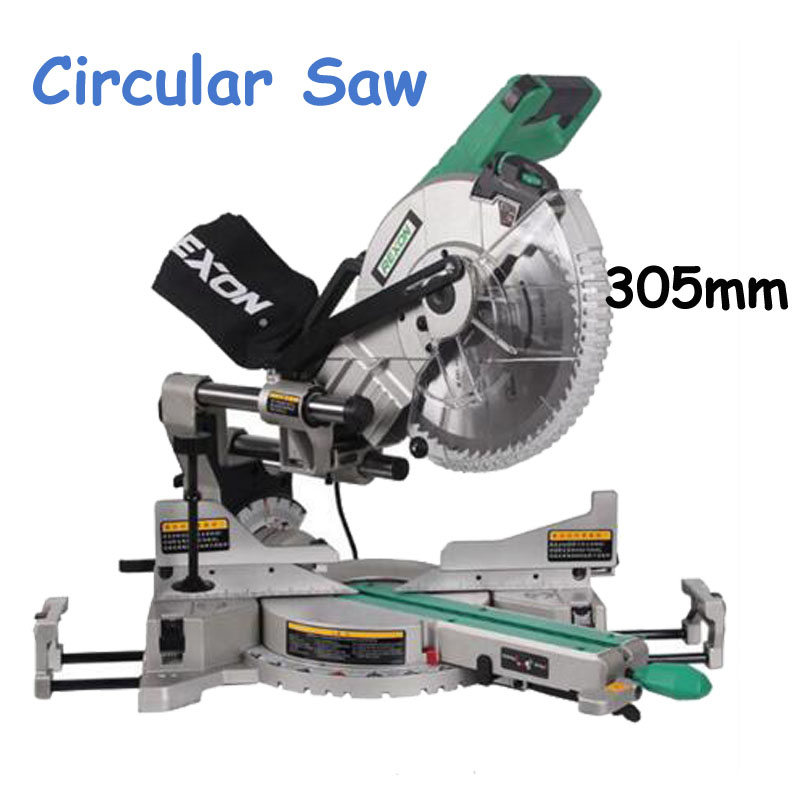 Aluminum Wood Cutting Machine Dual Sliding Compound Mitre