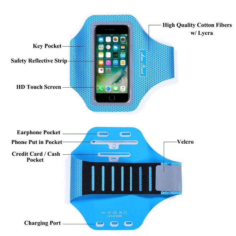 Sport Running Cycling Ultra Light Arm Band Case Cover For Google Pixel 3 / Pixel 3XL 2 XL / Nexus 5X Phone Pouch Bag Skin Capa