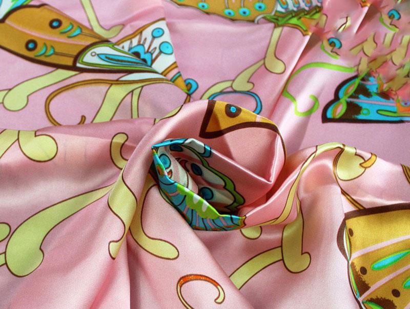 Tissu soie satin de soie vêtements housse de couette taie d'oreiller tissu papillon danse 16mm