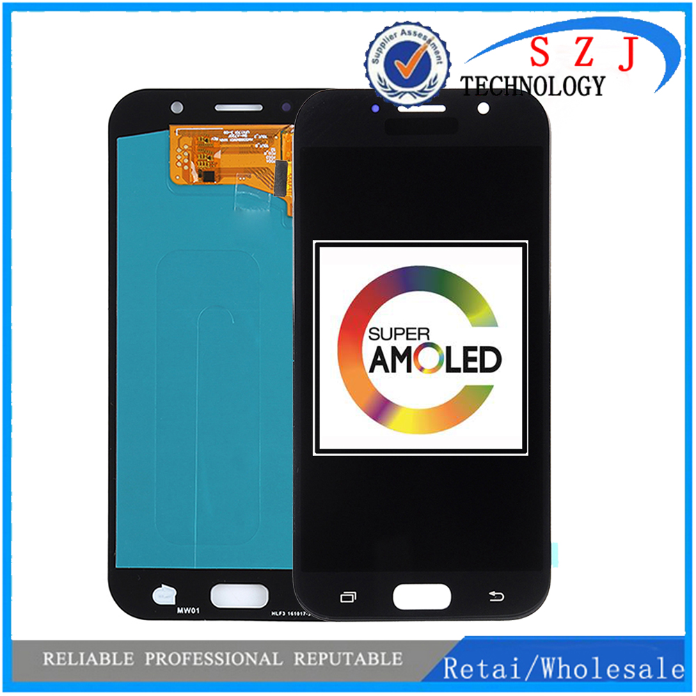 100% Super AMOLED LCD For <font><b>Samsung</b></font> Galaxy A7 2017 A720 <font><b>A720F</b></font> SM-<font><b>A720F</b></font> LCD Display Touch <font><b>Screen</b></font> Digitizer Assembly image