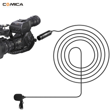 COMICA CVM-V02 Omnidirecional XLR de 3 PINOS 48 V Alimentação Fantasma Microfone de Lapela para o conector de saída XLR CANHÃO câmaras de vídeo e áudio r