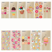 Sweet Doughnut Donut Lover Sweetheart candy Ice cream cake house cover Soft Phone Case for Honor 8 9 10 lite