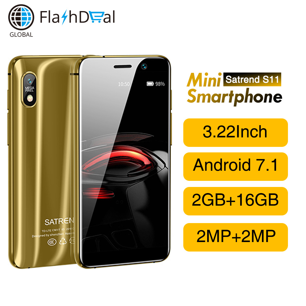 Satrend S11 4G LTE Smartphone MTK6739 Android 7.1 Quad Core 3.22 Inch 2GB 16GB Pocket Mini mobile phone For Student KidsSatrend S11 4G LTE Smartphone MTK6739 Android 7.1 Quad Core 3.22 Inch 2GB 16GB Pocket Mini mobile phone For Student Kids