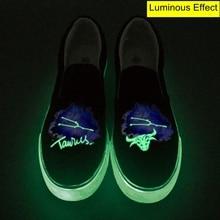 Taurus Constellation Low Top Luminous Canvas Shoes Customize