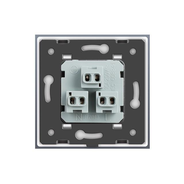 Online Shop Livolo EU Standard US Power Socket, White Crystal Glass ...