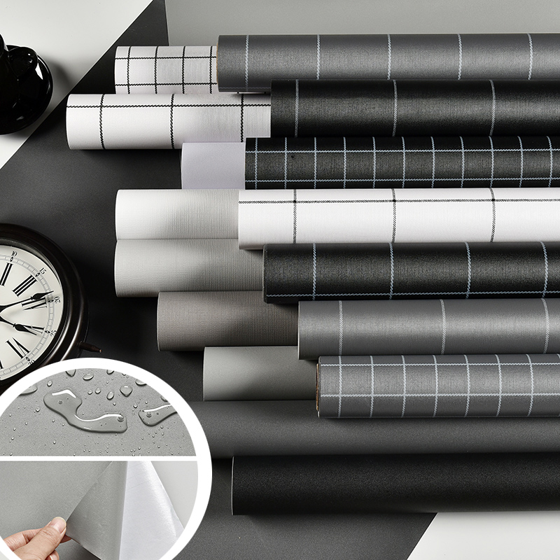 Waterproof and moisture proof PVC lattice wallpaper self adhesive college dormitory wall stickers wallpaper renovation home