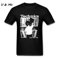 Lover Print T Shirt Men Technics Classic Collar Hipster Plain White Shirt Tees Streetwear T Shirt