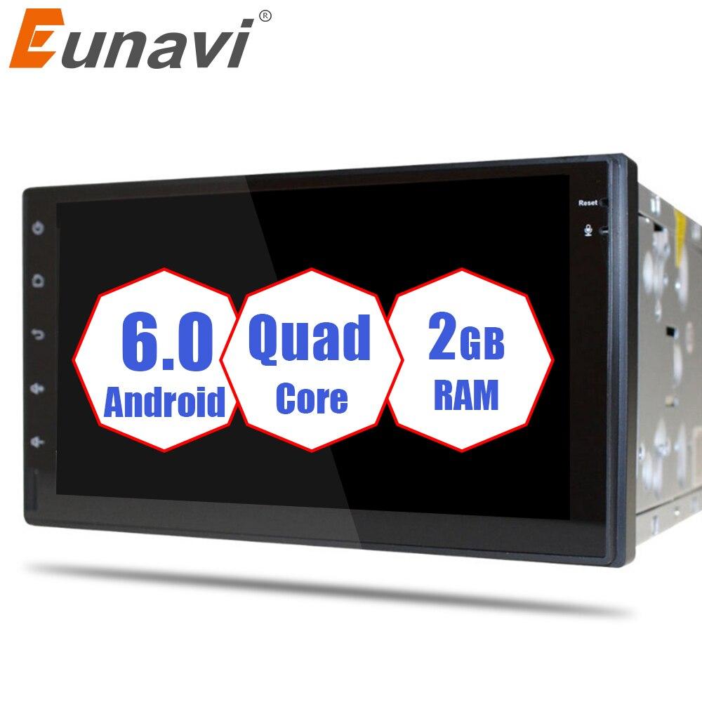 Eunavi 2 din DVD de Voiture Android 6.0 2g RAM Soutien 4g LTE Réseau DAB + DVR 7 pouces 1024*600 16g ROM 2 din Voiture Radio Pour Universel