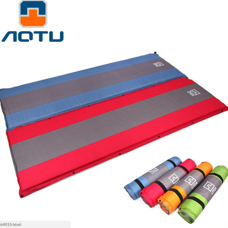 цены AOTU 5CM thick mattress Automatic Inflatable Mattress Outdoor Camping Pad Self-Inflating Moistureproof Picnic Tent Mat