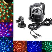 Stage Lights, 3W вращающийся волшебный эффект Бар Disco DJ Party USB-светодиодный автомобиль Crystal Magic Ball Lamp Домашнее украшение DC 5V