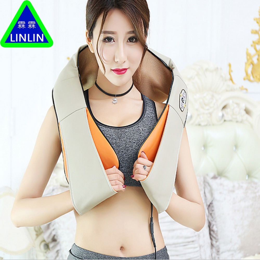 LINLIN massage Multifunction Infrared Body Health Care Equipment Car Home Acupuncture Kneading Neck Shoulder Cellulite massager wholesale 10pcs ctn neck shoulder massager belt anti cellulite massager multifunction acupuncture kneading heating belt