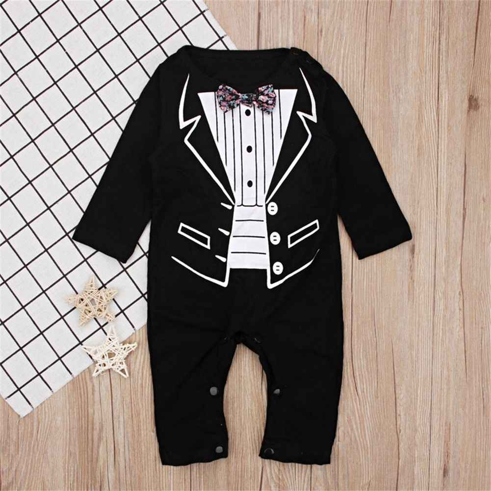 ceafd5468f3 Detail Feedback Questions about 2018 Latest Children s Wear 1pc Newborn Baby  Boy Formal Suit Party Wedding Tuxedo Gentleman Soft Cotton Romper Jumpsuit  0 ...