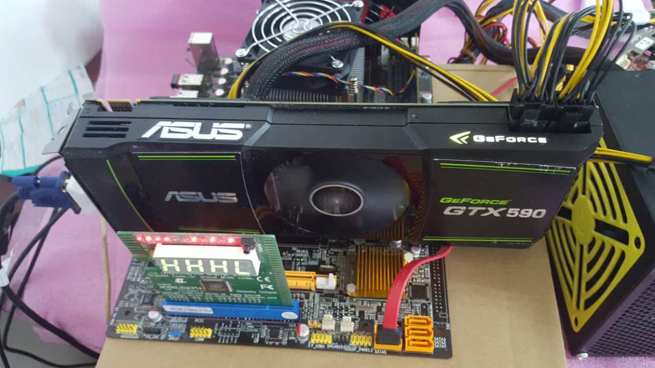 Used graphics card GTX590 3G Dual 8Pin power image