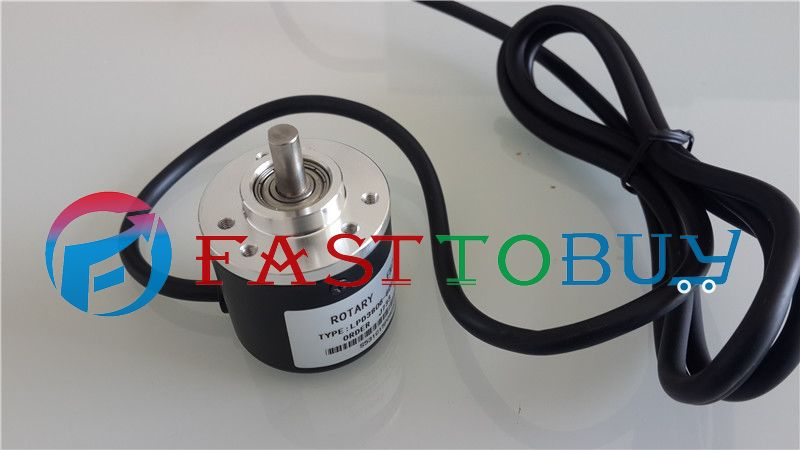 цена на NEW 300P/R NPN DC5~24V AB 2ph Shaft 6mm 1500rpm Incremental Photoelectric Rotary Encoder+1.5M Cable