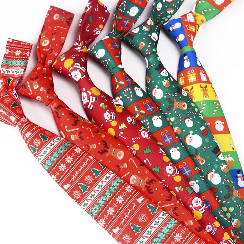 2019 New Mens Christmas Tie Printing Santa Claus Christmas Tree Elk Gifts For Men Accessories Snowmen Pattern Cravat Neck Ties