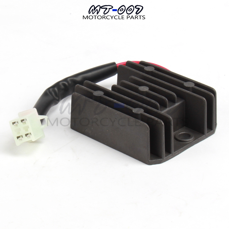 12V Voltage Regulator Rectifier 4 Wires ATV GY6 50 150cc for Motorcycle Boat Scooter taotao free shipping