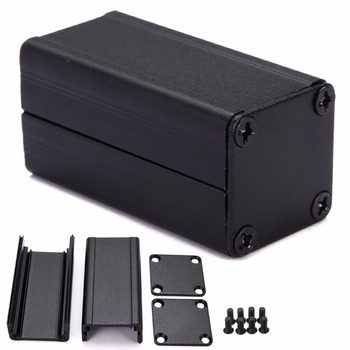 Extruded Aluminum Electronic Project Box Black DIY Power Supply Units Enclosure Case 50*25*25mm