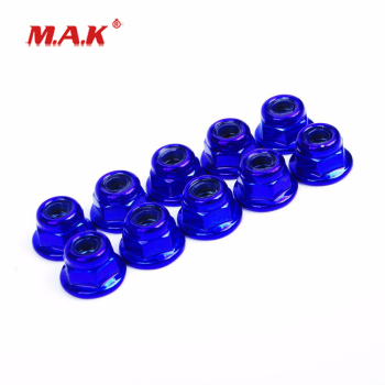 1:10 Scale Anti-Loose Wheel Rim Metal Lock Nuts fit 1/10 RC Drift Car Model Parts and Accessories image