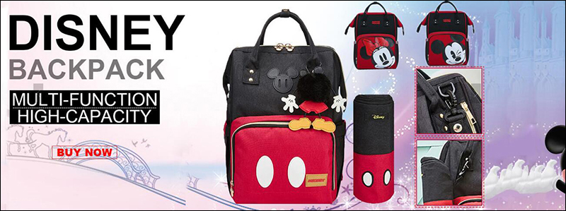 HTB1..qzXKbviK0jSZFNq6yApXXaE Disney Minnie Mickey Classic Red Diaper Bags 2PCS/SET Mummy Maternity Backpack Nappy Bag Large Capacity Baby Bag Travel 3D Doll