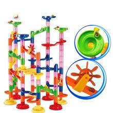 105 шт. DIY Строительство мрамор Race Run лабиринт шары трек строительные Конструкторы детский подарок для ребенка развивающие игрушки