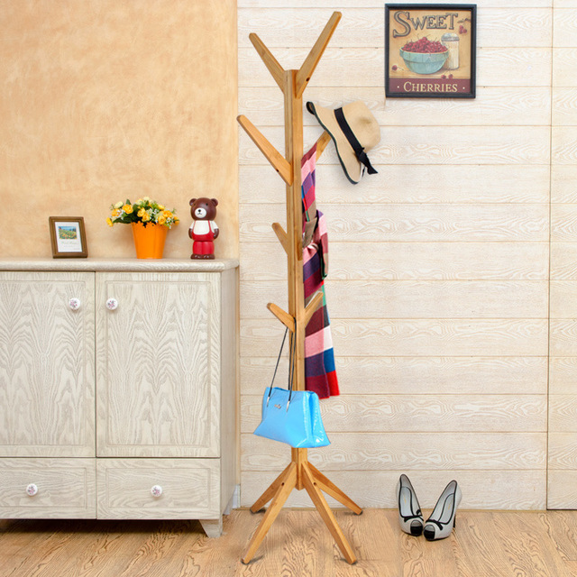 Lanskaya Quality Coat Rack  Modern Simple Bamboo Clothes  Hanger Coatrack  Furniture Rack Tree Coat Hook