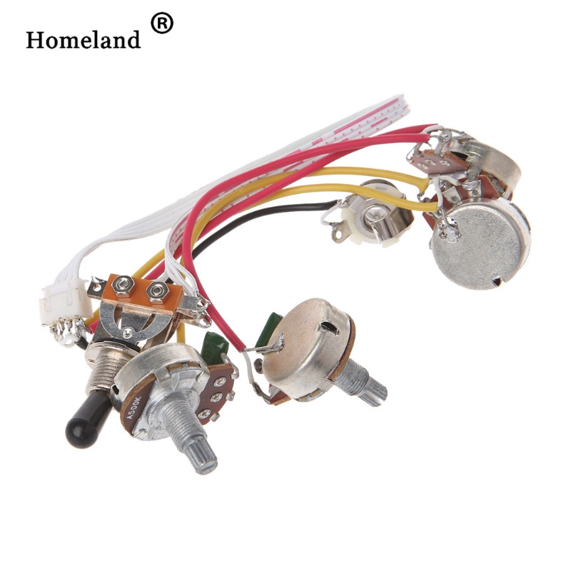 guitar wiring harness accessories lp electric guitar wiring harness kit 3 way toggle switch 2. Black Bedroom Furniture Sets. Home Design Ideas