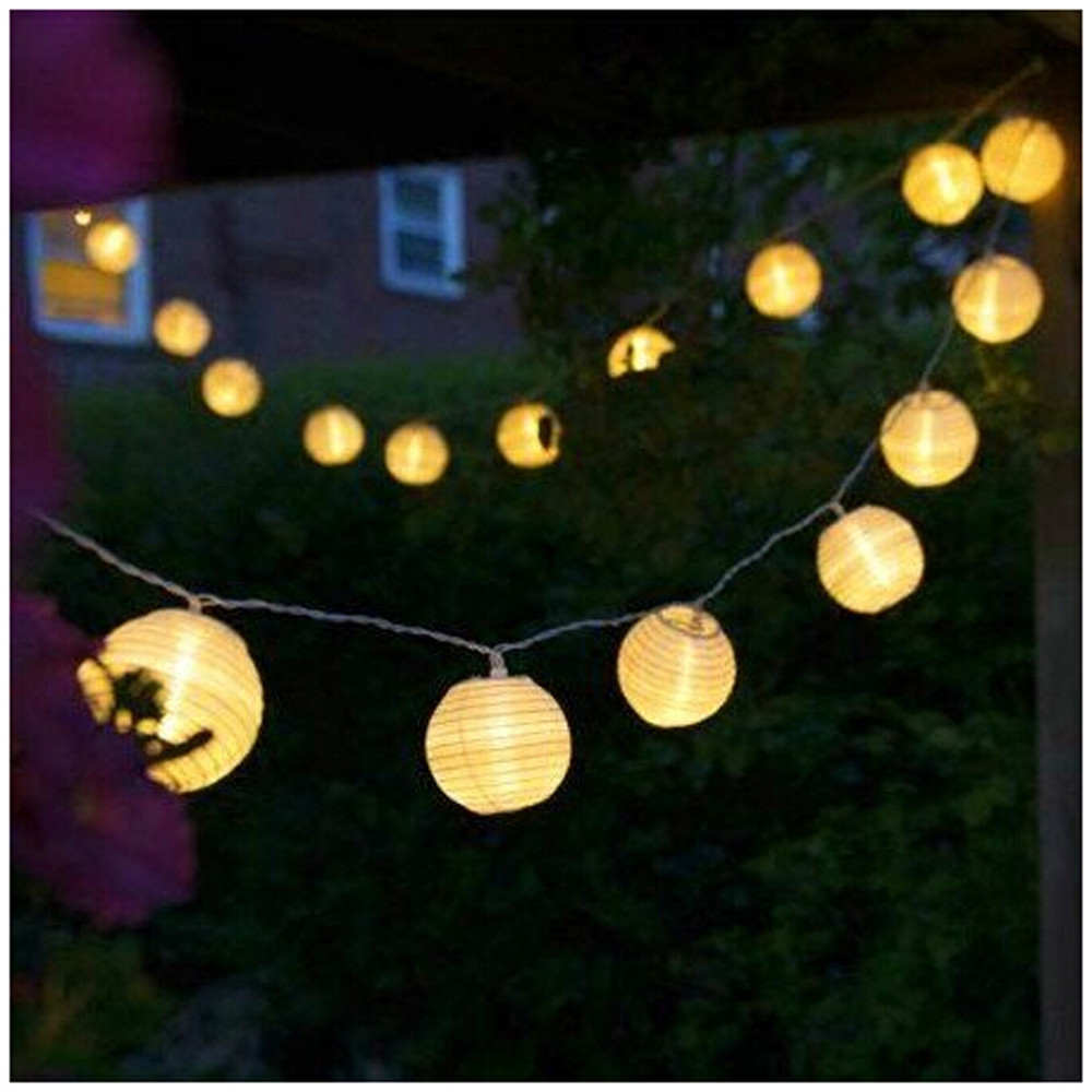 CARPRIE Globe Festoon Party Ball string light led Christmas Lights Connectable fairy lig ...
