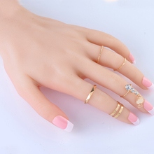 2015 New 5Pcs/Set Fashion Top Of Finger Over The Midi Tip Above Knuckle Open Ring For women Jewelry Free ship